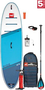 2021 Red Paddle Co Ride 10'8 Stand Up Paddle Board, Bag, Pump, Paddle & Leash - Carbon / Nylon Package