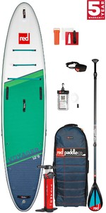 PRE ORDER - 2021 Red Paddle Co Voyager 12'6 Touring Stand Up Paddle Board, Bag, Pump, Paddle & Leash - Carbon / Nylon Package