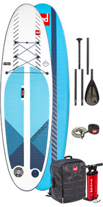 2020 Red Paddle Co 9'6 Compact Inflatable SUP Package - Board, Bag, Pump, Paddle & Leash