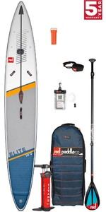 2021 Red Paddle Co Elite 14'0 x 27 Race Stand Up Paddle Board, Bag, Pump, Paddle & Leash - Carbon Nylon Package