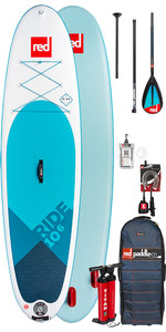 2019 Red Paddle Co Ride 10'6 Inflatable Stand Up Paddle Board - Carbon / Nylon Package