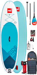 2020 Red Paddle Co Ride 10'8 Inflatable Stand Up Paddle Board - Carbon 50 Paddle Package