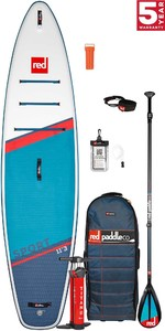 2021 Red Paddle Co Sport 11'3 Touring Stand Up Paddle Board, Bag, Pump, Paddle & Leash - Carbon / Nylon Package