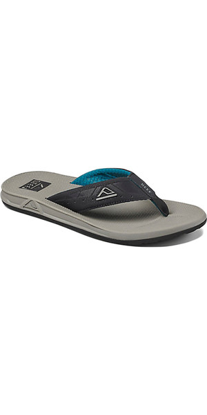 2018 Reef Phantoms Sports Flip Flops GREY / BLACK / GREEN RF002046