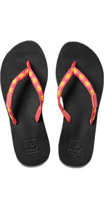Reef Womens Ginger Sandals / Flip Flops HOT PINK / YELLOW R01660