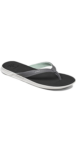 2018 Reef Womens Rover Catch Flip Flops BLACK / MINT R01465