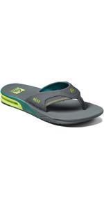 2021 Reef Fanning Flip Flops CI3630 - Grey Volt