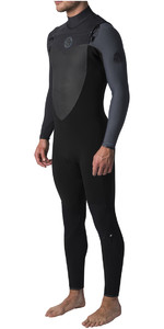 2019 Rip Curl Flashbomb 5/3mm Chest Zip Wetsuit BLACK / GREY WST7DF