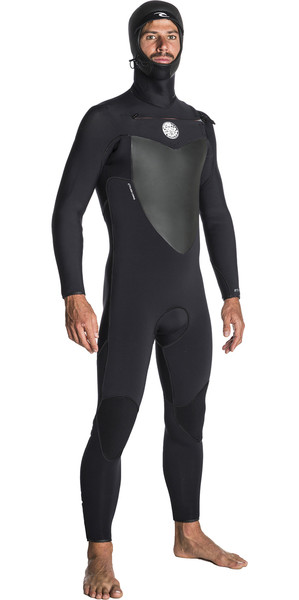 2018 Rip Curl Flashbomb 4/3mm Hooded Chest Zip Wetsuit BLACK WST7BF