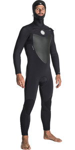 2019 Rip Curl Flashbomb 6/4mm Hooded Chest Zip Wetsuit BLACK WST7OF