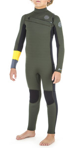 2019 Rip Curl Junior Aggrolite 3/2mm Chest Zip Wetsuit KHAKI WSM8KB
