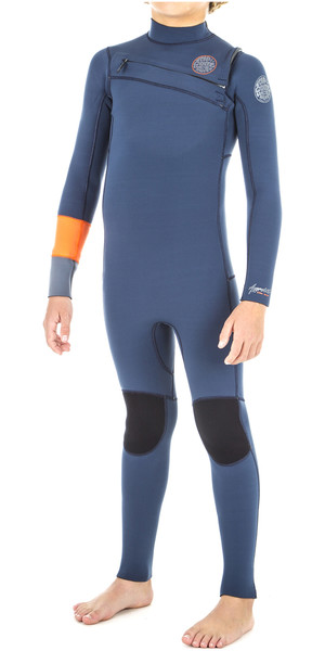 2018 Rip Curl Junior Aggrolite 5/3mm Chest Zip Wetsuit ORANGE WSM8PB
