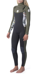 2019 Rip Curl Womens Dawn Patrol 3/2mm Chest Zip Wetsuit White WSM9CS
