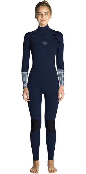 2019 Rip Curl Womens Flashbomb 4/3mm Chest Zip Wetsuit BLUE WST7FS