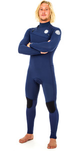 2019 Rip Curl Aggrolite 5/3mm Chest Zip Wetsuit NAVY WSM9SM