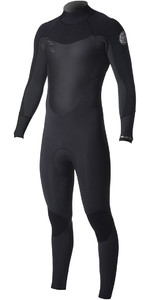 2019 Rip Curl Dawn Patrol 4/3mm Back Zip Wetsuit BLACK WSM8EM