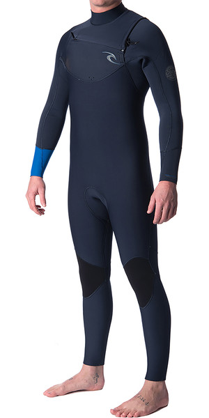 2019 Rip Curl Dawn Patrol 3/2mm Chest Zip Wetsuit BLUE WSM7AM