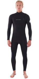 2021 Rip Curl Mens Dawn Patrol Performance 3/2mm Chest Zip Wetsuit Black WSM9TM