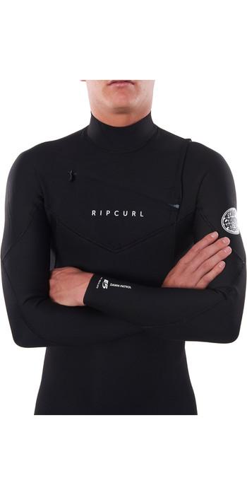 2021 Rip Curl Mens Dawn Patrol Warmth 4/3mm Chest Zip Wetsuit Black WSM9CM