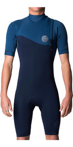 2018 Rip Curl E-Bomb Pro 2mm Zip Free GBS Shorty Wetsuit Navy WSP7GE