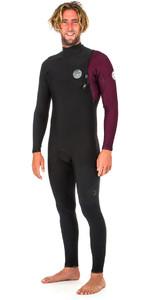 2019 Rip Curl E-Bomb 4/3mm Zip Free Wetsuit MAROON WSM8QE