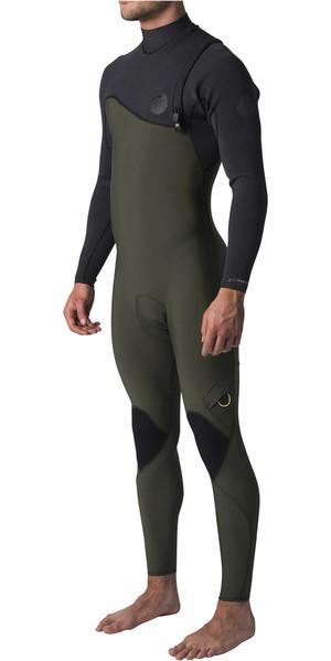 2019 Rip Curl Flashbomb 4/3mm Zip Free Wetsuit BLACK / GREEN WSM8SF