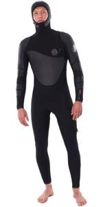 2020 Rip Curl Mens Flashbomb Heatseeker 5/4mm Zip Free Hooded Wetsuit WSTYWF - Black