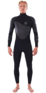 2021 Rip Curl Mens Flashbomb Heatseeker 4/3mm Zip Free Wetsuit WSTYQF - Black