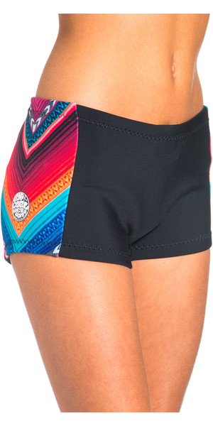 Rip Curl G-Bomb Ladies Boyleg 1mm Neoprene Shorts Black / Grey WSH4BW