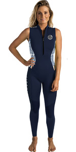Rip Curl G-Bomb Womens 1.5mm Front Zip Long Jane Wetsuit Navy WSM6AS