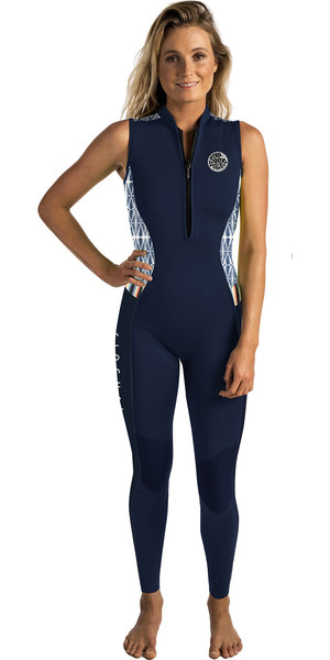 2018 Rip Curl G-Bomb Womens 1.5mm Front Zip Long Jane Wetsuit Navy WSM6AS