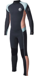 2018 Rip Curl Junior Dawn Patrol 4/3mm GBS Back Zip Wetsuit Peach WSM6BJ