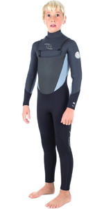 Rip Curl Junior Dawn Patrol 5/3mm GBS Chest Zip Wetsuit BLACK WSM6GB