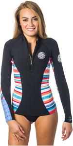 Rip Curl Womens G-Bomb 1mm Long Sleeve Front Zip Neo Jacket STRIPE WVE6KW