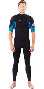 2021 Rip Curl Mens Dawn Patrol 2mm Back Zip Short Sleeve Wetsuit WSM9ZM - Blue