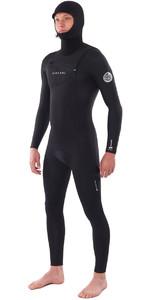2021 Rip Curl Mens Dawn Patrol 5/4mm Hooded Chest Zip Wetsuit Black WSM9BM
