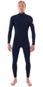 2021 Rip Curl Mens Dawn Patrol Performance 3/2mm Chest Zip Wetsuit WSM9TM - Navy