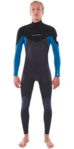 2021 Rip Curl Mens Dawn Patrol Warmth 4/3mm Chest Zip Wetsuit WSM9CM - Blue