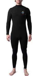 2019 Rip Curl Mens E-Bomb Pro 3/2mm Zipperless Wetsuit Black WSM8VE