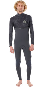 2020 Rip Curl Mens E-Bomb 4/3mm Zip Free Wetsuit WSMYDE - Charcoal Grey