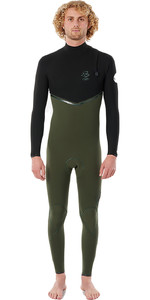 2021 Rip Curl Mens E-Bomb 4/3mm Zip Free Wetsuit WSMYWE - Olive