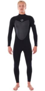 2020 Rip Curl Mens Flashbomb 4/3mm Back Zip Wetsuit WSTYLF - Black