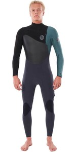 2020 Rip Curl Mens Flashbomb 4/3mm Chest Zip Wetsuit WSTYNF - Green