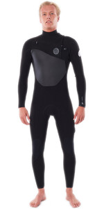 2021 Rip Curl Mens Flashbomb 5/3mm Chest Zip Wetsuit WSTYDF - Black