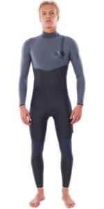 2021 Rip Curl Mens Flashbomb 5/4mm Zip Free Wetsuit WSMYUF - Grey