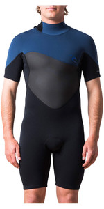 Rip Curl Omega 1.5mm Back Zip Shorty Wetsuit Navy WSP7CM