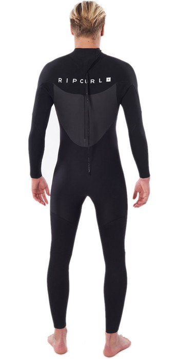 2021 Rip Curl Mens Omega 3/2mm GBS Back Zip Wetsuit BLACK WSM8LM