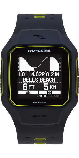 2018 Rip Curl Search GPS Series 2 Smart Surf Watch Yellow A1144