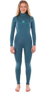 2020 Rip Curl Womens Dawn Patrol Performance 3/2mm Chest Zip Wetsuit WSMYDW - Green