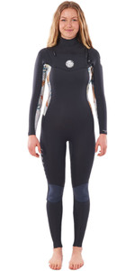 2021 Rip Curl Womens Dawn Patrol 3/2mm Chest Zip Wetsuit WSM9CS - Charcoal Grey